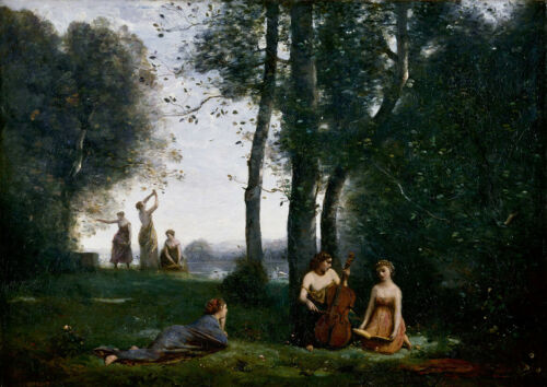Fine Art Print//Poster The Country Concert Jean-Baptiste-Camille Corot