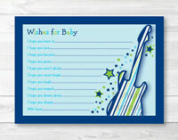 Rock Star Printable Baby Shower Wishes For Baby Advice Cards