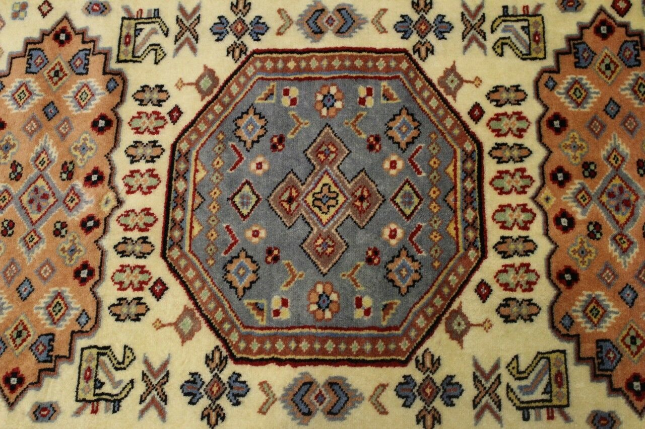 Rugstc 3x5 Caucasian Design Weiß Area Rug, Hand-Knotted,Geometric with with with Wool a895bd