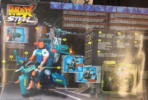 Rare Max Steel MX99 Heli-Jet Mattel 29720 FACTORY SEALED