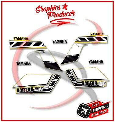 Yamaha Raptor 2006 White /& Black Decals Graphics Kit Stickers Reproduction Set