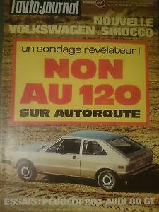 L-039-AUTO-JOURNAL-1974-4-AUDI-80-GT-FERRARI-BB-512-PEUGEOT-204-RENAULT-17-RACING