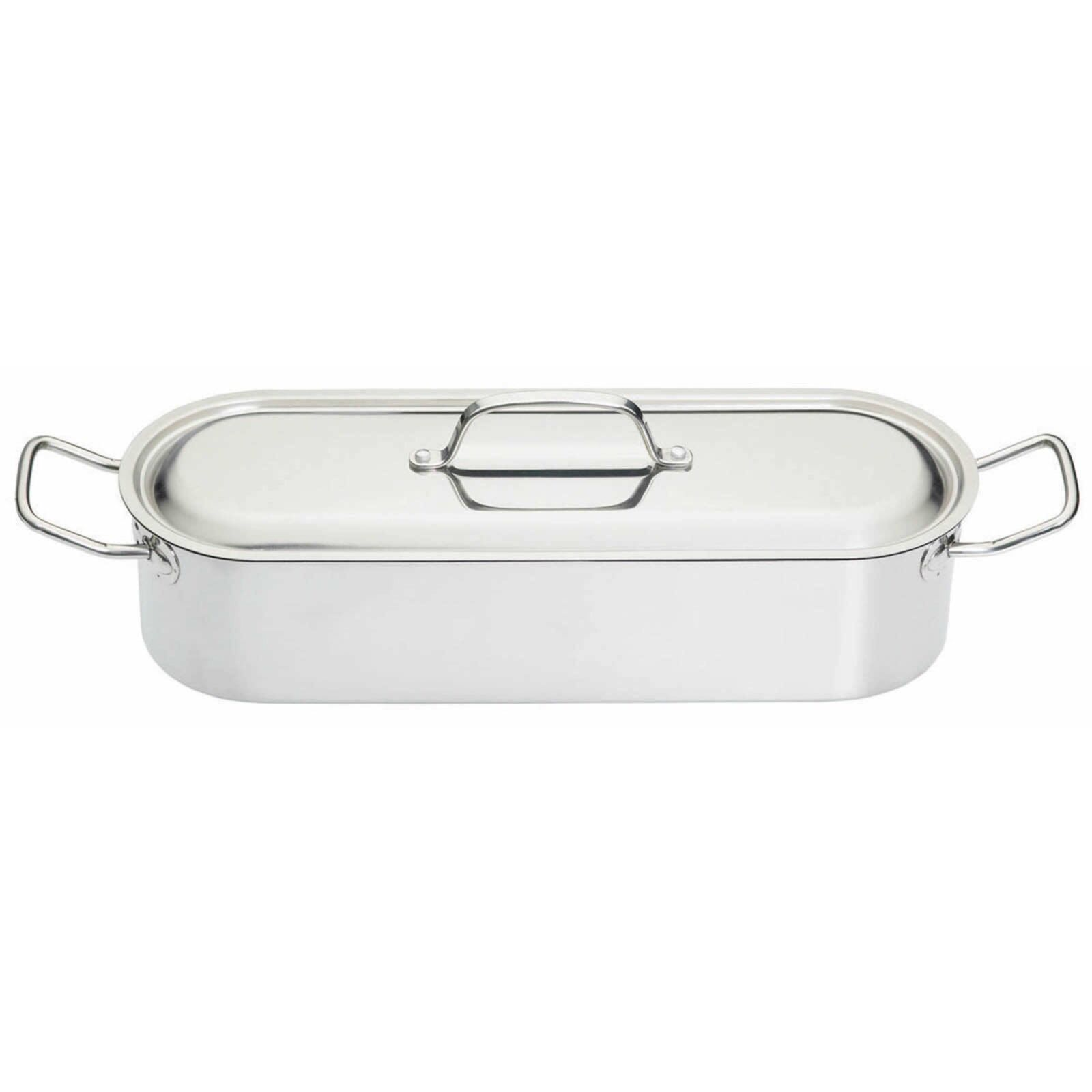 KitchenCraft Stainless Steel Large 60cm fish poacher