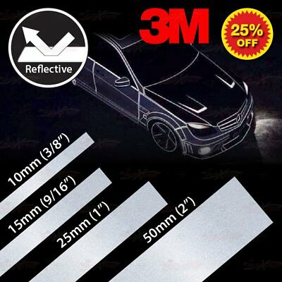 3M YELLOW Reflective Conspicuity Auto Trailor PinStripe Vinyl Decal Tape Sticker