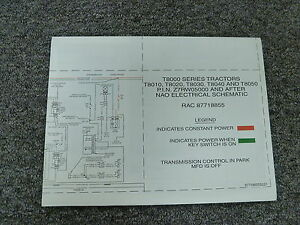 new holland t8010 t8020 t8030 tractor electrical wiring diagram rh ebay com new holland wiring diagrams 260c new holland l170 wiring diagram