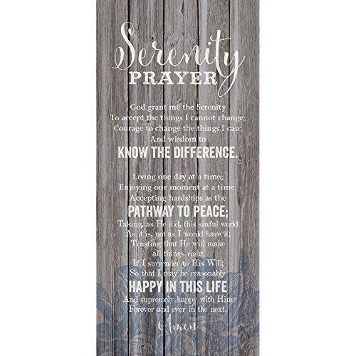 Serenity Prayer 6 x 9 Wood Plank Look Wall Art Plaque