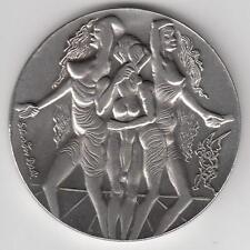 """Israel 1978 Salvador Dali """"Peace"""" Private Medal 100g Pure Silver 59mm + COA"""