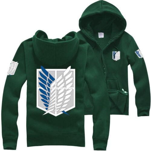 Attack on Titan Recon Corps,Thick Hoodie Sweatshirt Jacket Coat Cosplay Costume