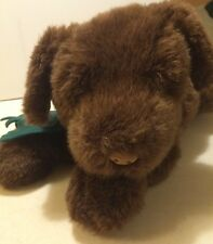 """Eddie Bauer Puppy Dog Plush Scarf Chocolate Brown 18"""" Gund 1996"""