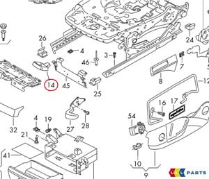 NEW Genuine VW Tiguan 2016-2018 gauche droit Réglage Du Siège Poignée Levier Noir