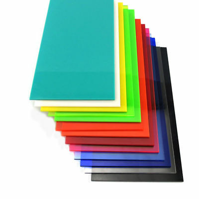 Color Plastic Sheet Panel Acrylic Plexiglass Plate 8x8cm-30x40cm