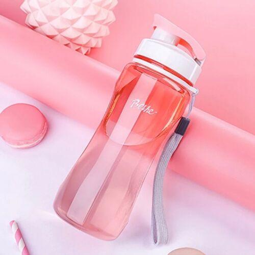 Water Bottle Drink Bottle with Leak Proof Lid Flip Up Sports School Gym YX#mla