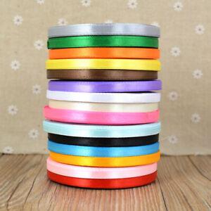 22-metres-Wedding-Christmas-Thin-Grosgrain-Ribbon-6mm-Widths-Various-Colours