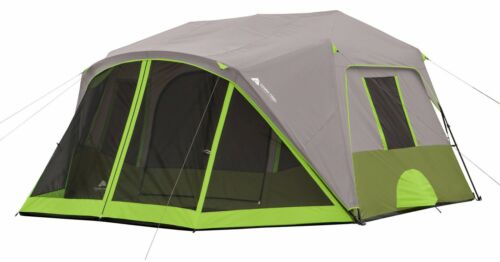 Ozark Trail 9-Person 2 Room Camping Tent Green Instant Cabin Outdoor Shelter New