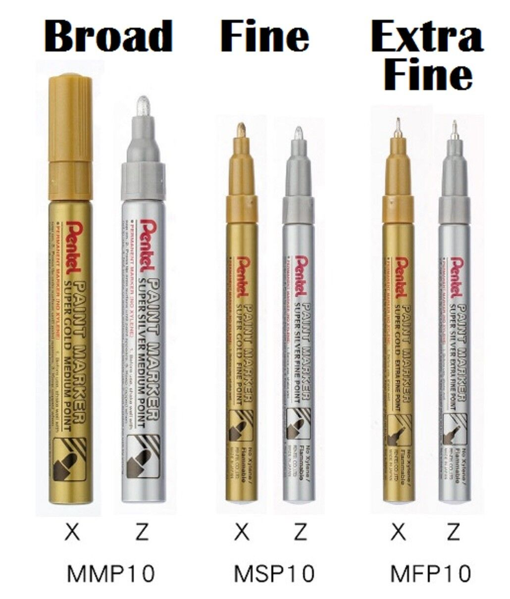 666aabc13df24 Pentel Super Gold Medium Paint Permanent Marker Pen Metal Glass ...