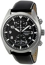 Seiko Men's SNN231P2 Black Leather Quartz Dress Watch