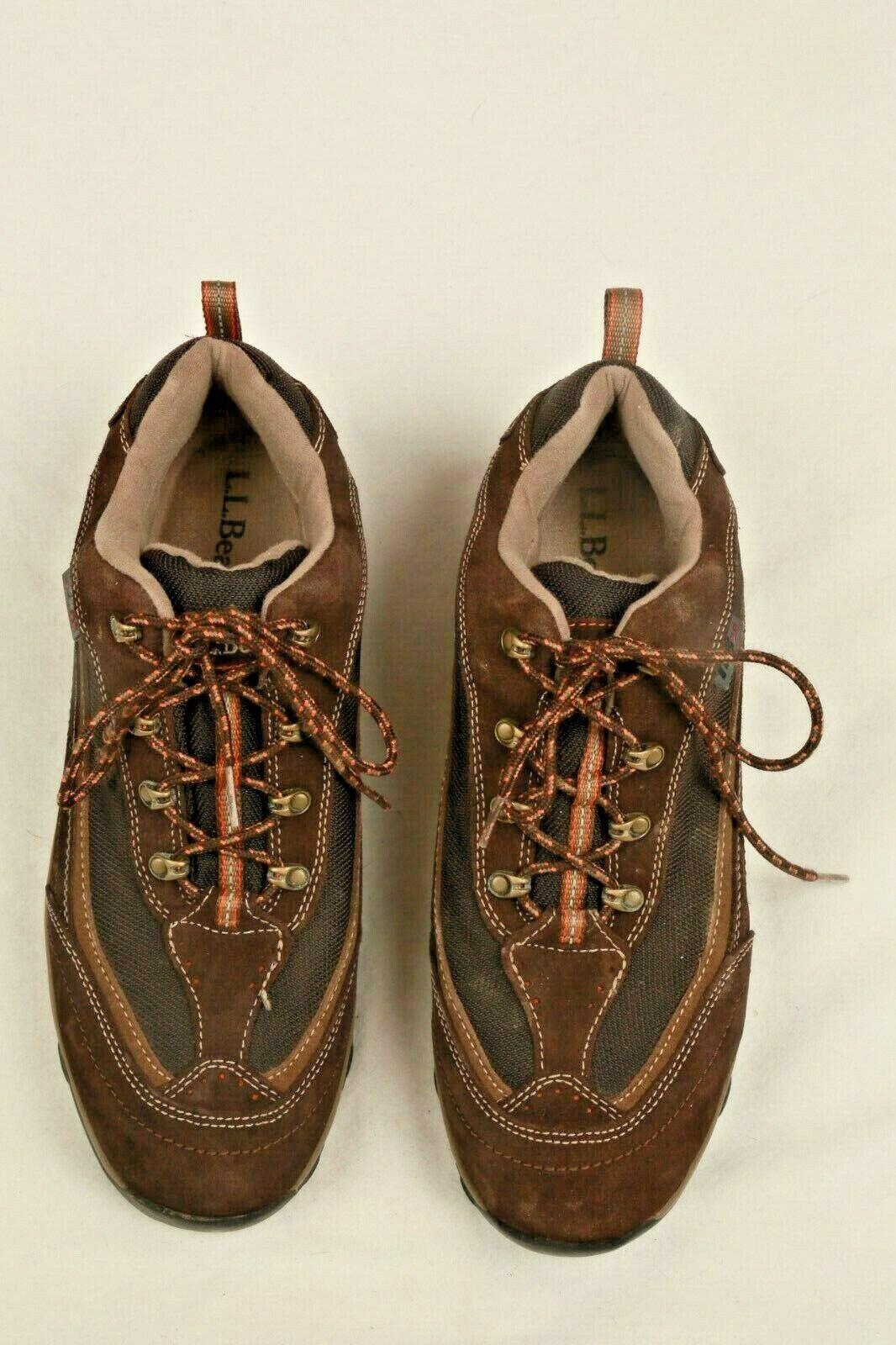 LL BEAN TRAIL HIKING TEK 2.5 WATERPROOF scarpe da ginnastica scarpe Marronee SUEDE MENS 11 M EUC