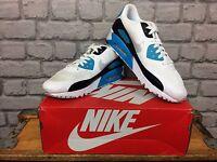 Nike Air Max 90 Ultra Essential Trainers Blue Black Running Uk 8 9