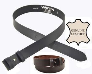 Cinturón de cuero 4 Cm (100% Genuino) Sin Hebilla certificado AQAP
