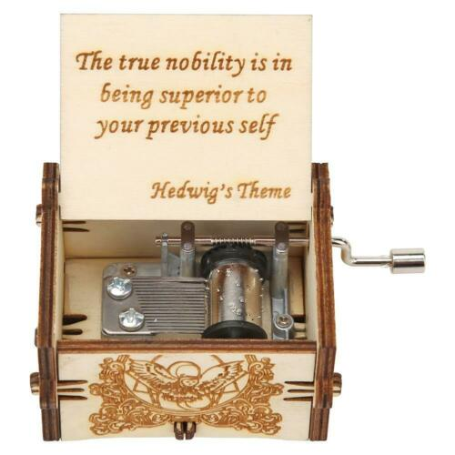 Harry Potter Music Box Engraved Wooden Music Box Interesting Kid Toys Xmas Gift