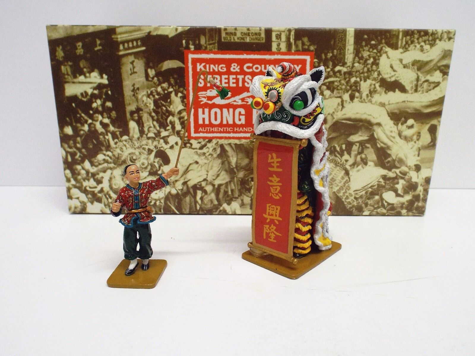 KING AND COUNTRY HK156 GLOSS SOOHK LION DANCE SET RETIRED BOXED (BS1819)