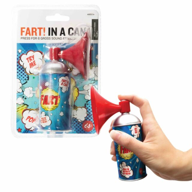 FART! IN A CAN - 6 Novelty Fart Sound Bites Effects Pranks Funny Toy Gift **NEW*