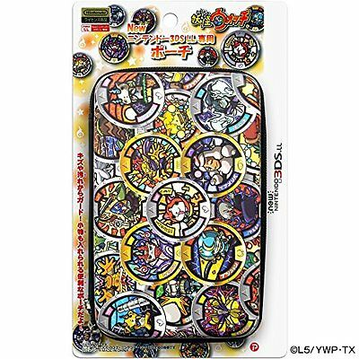 Yokai Watch Black Medal pattern Hard Case Pouch for New Nintendo 3DS LL XL