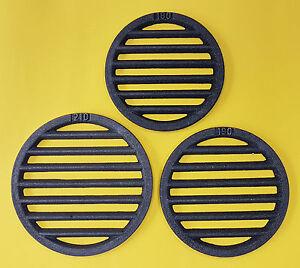grille ronde tout tailles cendre en fonte rouille rouge carmin ebay. Black Bedroom Furniture Sets. Home Design Ideas