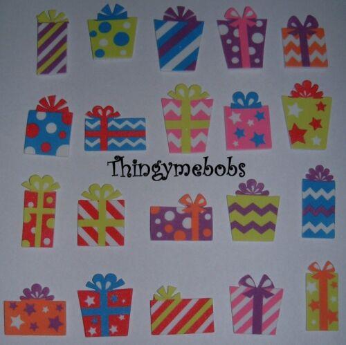 10 Schiuma piccoli regali di Natale//regali Adesivi-Per Bambini Artigianato//Card Making