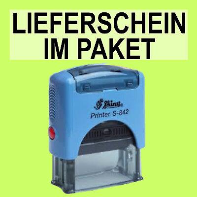 Unparteiisch Lieferschein Im Paket Shiny Printer Blau S-842 Büro Stempel Kissen Schwarz