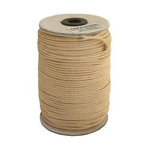 100m-Baumwollband-0-17-1m-beige-natur-2-mm-rund-poliert-Rolle-Spule