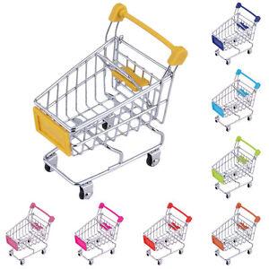 mini chariot m tal caddie panier support mobile rangement pr jouet enfant cadeau ebay. Black Bedroom Furniture Sets. Home Design Ideas