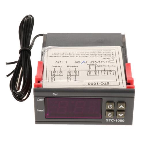 Digital DC 12V STC 1000 Temperaturregler Thermostat Temperature Mit Sensor