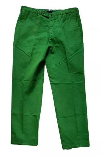 Incotex Chinolino Green Classic Fit Pants Size 34x
