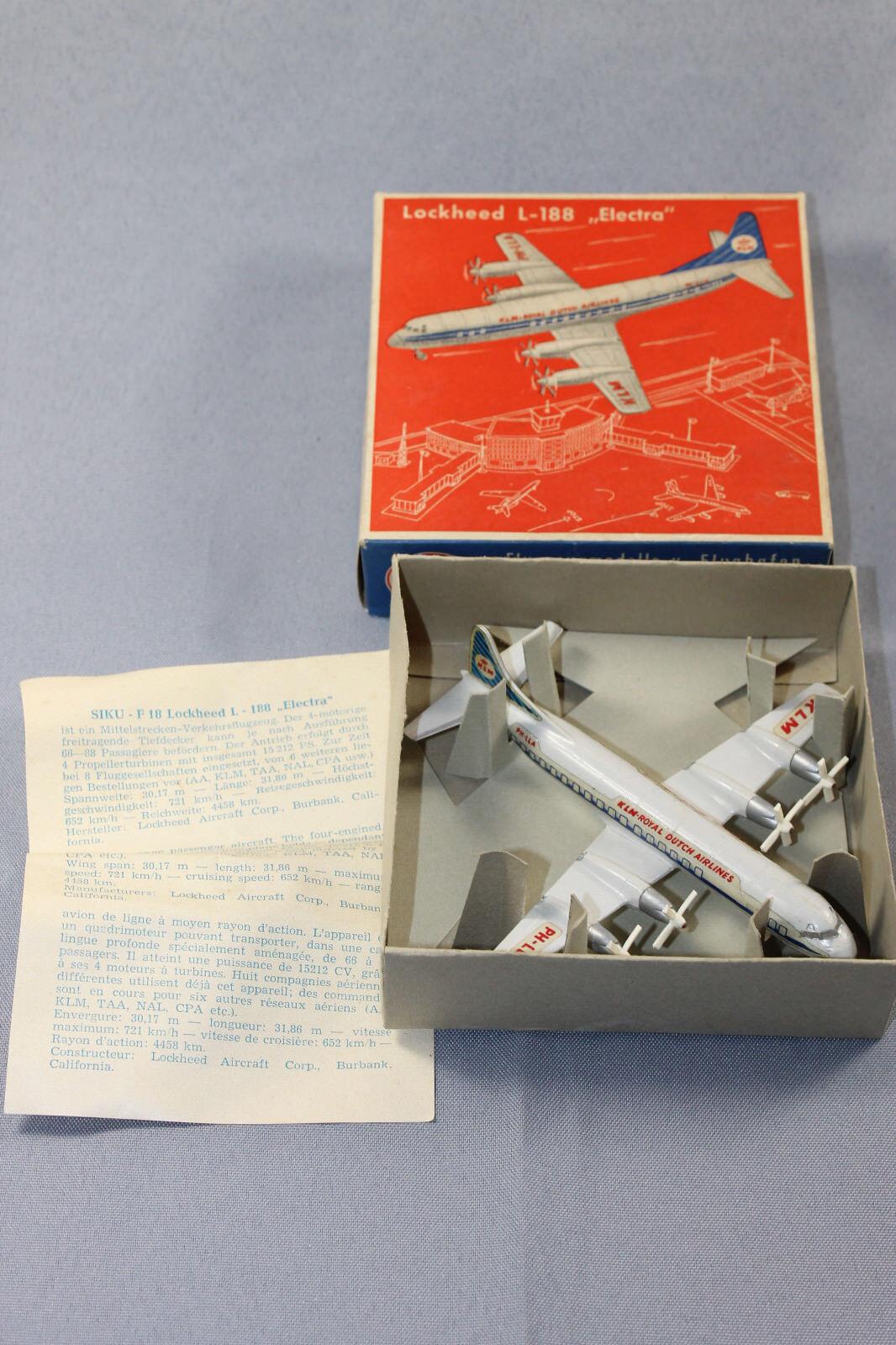 Siku PLASTICA f18 Lockheed l188 Electra in OVP aereo modellololo 1 250