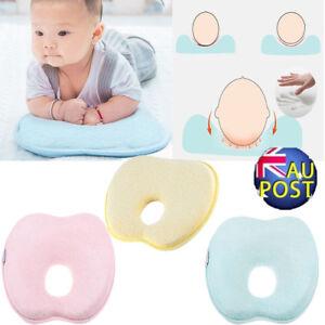 AU Infant Baby Pillow Prevent Flat Head Memory Foam Cushion Sleeping Support PLK