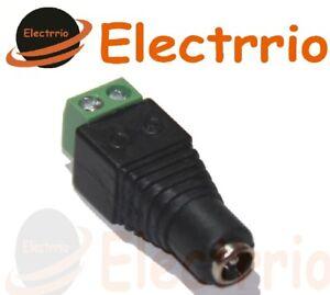 Lote conectores DC Macho Hembra 2,1 x 5,5mm tornillo especial Arduino