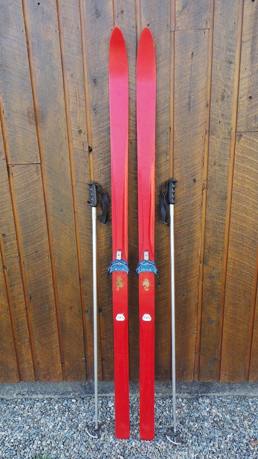 VINTAGE  Wooden 77  Skis Has  Metal Bindings In Very Good Condition  for wholesale