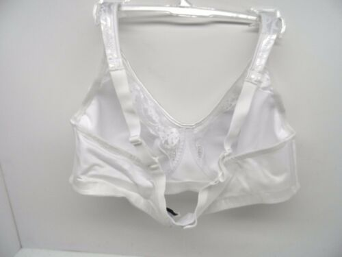 Exquisite 2506 Women/'s Lace Soft Cup Wirefree Bra White//White Size 44D