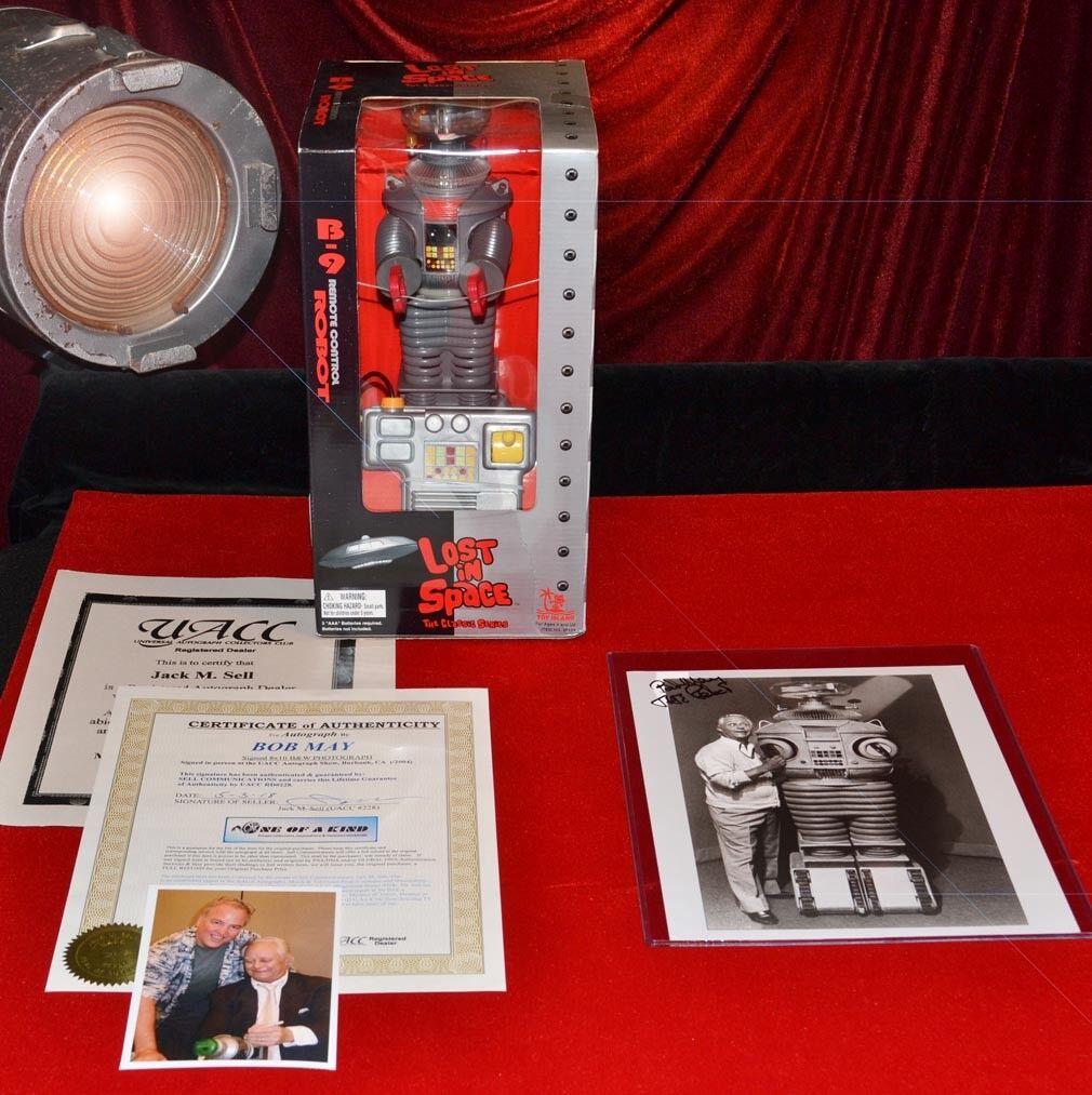 Bob Mai Autographe Signé Perdus dans L'Espace Photo, Télécommandé Robot B-9