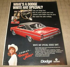 "1969 Red DODGE DART 10.5"" x 14"" Life Magazine 1-Page Ad - Dodge Fever"