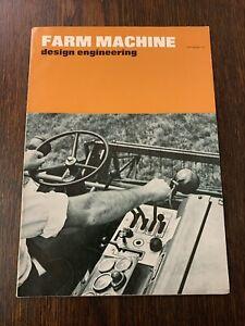 VINTAGE FARM MACHINE DESIGN ENGINEERING MAGAZINE-