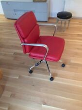 Swivel Desk Chair Red In The Manner Of Eames Office Chair