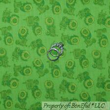 BonEful Fabric FQ Cotton Quilt Green FARM TRACTOR Calico John Deere Kid Baby Boy
