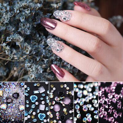 3d rhinestones crystal nail studs shells mixed size