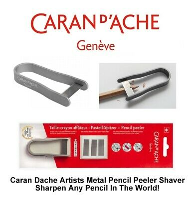 Red Caran Dache Artist Pencil Peeler Universal Pencil Sharpener /& Blades