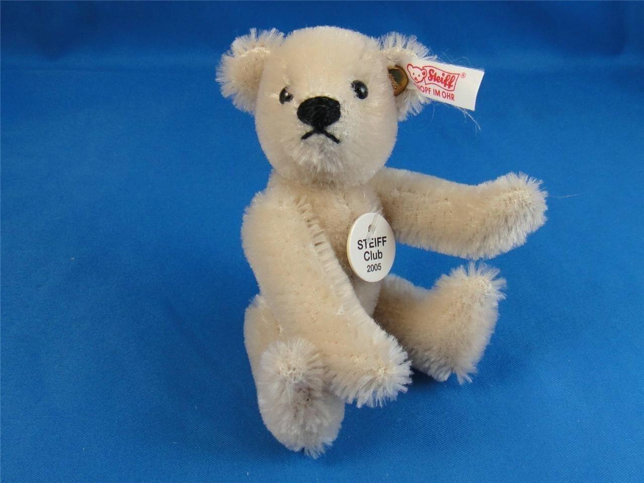 ️Miniature STEIFF Club 2005 MEMBERSHIP GIFT TEDDY BEAR    CREAM ID's MINI ️