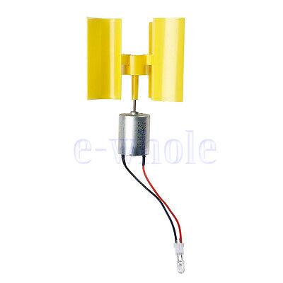 Vertical Micro Wind Turbines Generator Small DC Motor Blades DIY Kit K6