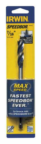 "NEW IRWIN Speedbor Max 7//16/"" x 6/"" Wood Boring Bit 304015"