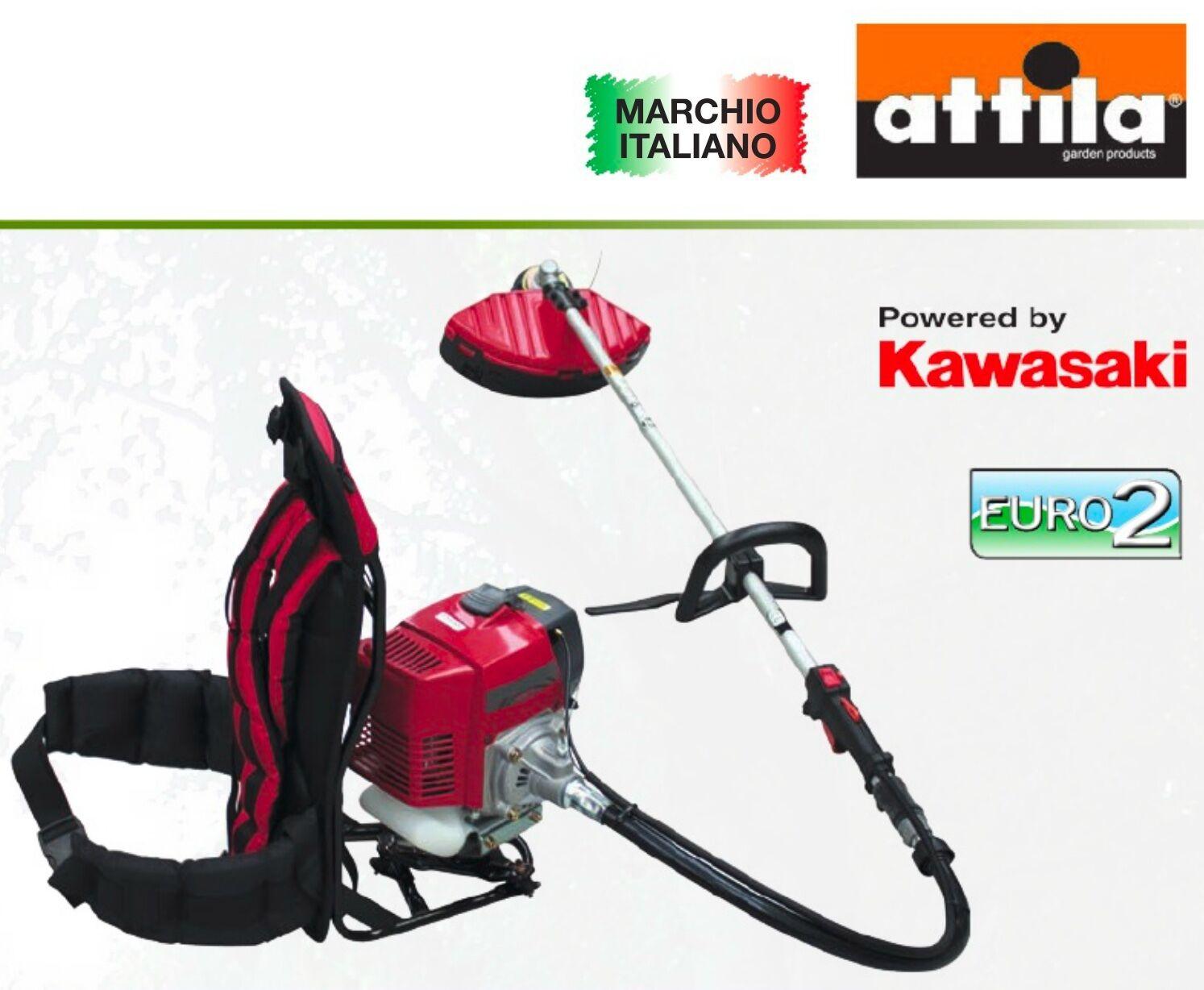 DECESPUGLIATORE a scoppio ZAINO KAWASAKI TJ 53 E 53,2cc MADE IN ITALY + DISCO
